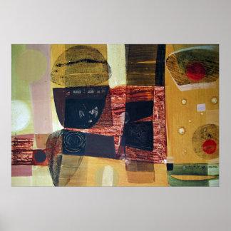 Paisaje abstracto de Potosi Bolivia 31.6x21.6 Póster