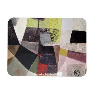 Paisaje abstracto de Potosi Bolivia 32.3x21.6 Iman De Vinilo