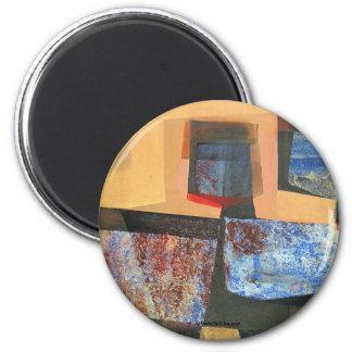 Paisaje abstracto de Potosi Bolivia 33.3x18 Imán Redondo 5 Cm