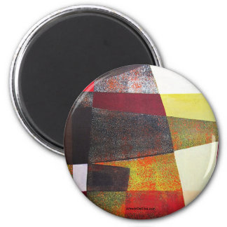 Paisaje abstracto de Potosi Bolivia 33x22.6 Imán Redondo 5 Cm
