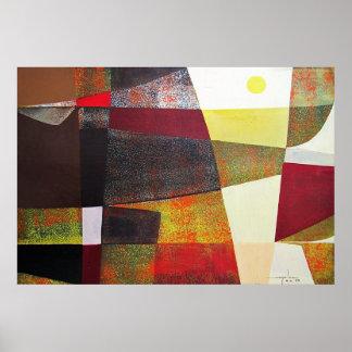 Paisaje abstracto de Potosi Bolivia 33x22.6 Póster