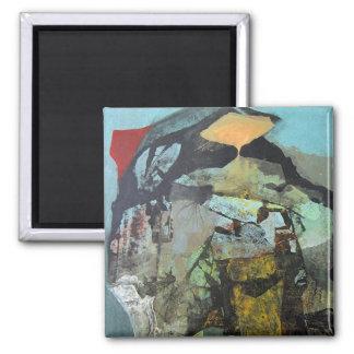 Paisaje abstracto de Potosi Bolivia Imán Cuadrado