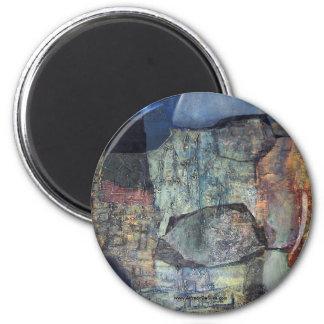 Paisaje abstracto de Potosi Bolivia Imán Redondo 5 Cm