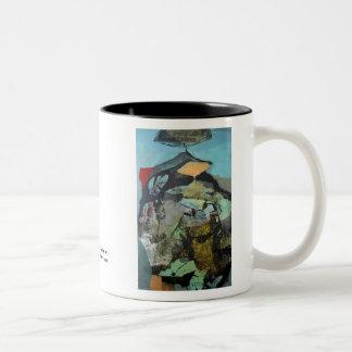 Paisaje abstracto de Potosi Bolivia Tazas De Café
