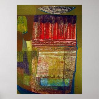 Paisaje abstracto Potosi 16.6x22.75 Póster