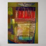 Paisaje abstracto Potosi 16.6x22.75 Posters