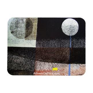 Paisaje abstracto Potosi 21.75x16.5 Imán Rectangular