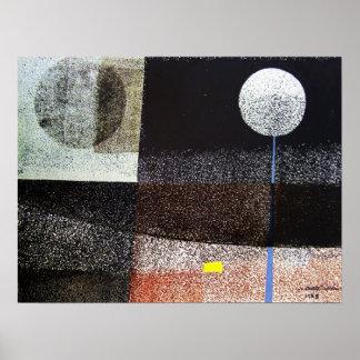 Paisaje abstracto Potosi 21.75x16.5 Póster