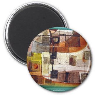 Paisaje abstracto Potosi 23.5x16.75 Imán Redondo 5 Cm