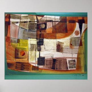 Paisaje abstracto Potosi 23.5x16.75 Póster