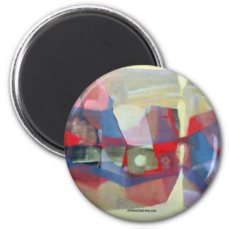 Paisaje abstracto Potosi 23.75x18.25 Imán Redondo 5 Cm