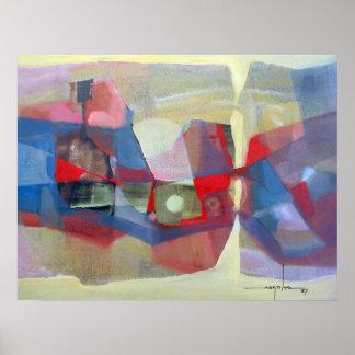 Paisaje abstracto Potosi 23.75x18.25 Póster