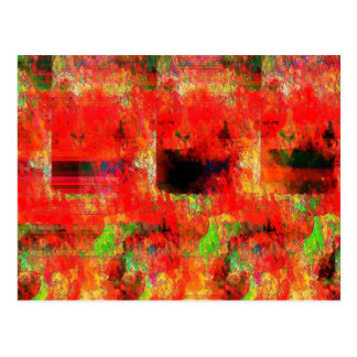 Paisaje abstracto rojo tarjeta postal