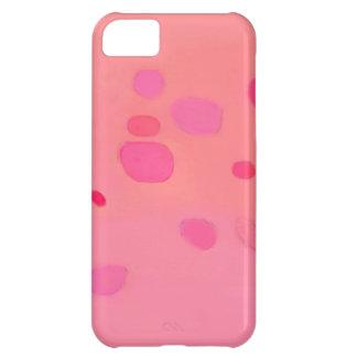 Paisaje abstracto rosado sutil funda para iPhone 5C