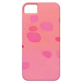 Paisaje abstracto rosado sutil funda para iPhone SE/5/5s