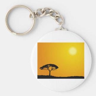 Paisaje africano llavero redondo tipo pin