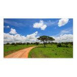 Paisaje africano plantilla de tarjeta de visita
