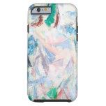 Paisaje airoso del cubismo (cubismo abstracto) funda para iPhone 6 tough