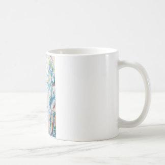 Paisaje airoso del cubismo (cubismo abstracto) taza