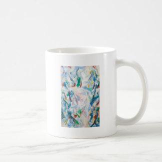 Paisaje airoso del cubismo (cubismo abstracto) taza clásica