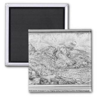 Paisaje alpino, 1553 imán de frigorífico
