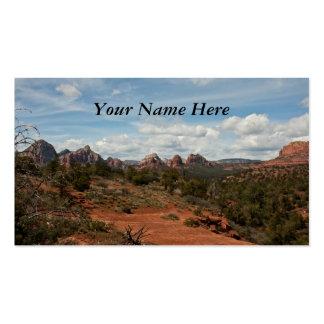 Paisaje americano del sudoeste plantilla de tarjeta de negocio