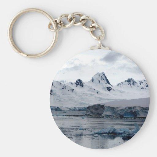 Paisaje antártico llavero redondo tipo pin