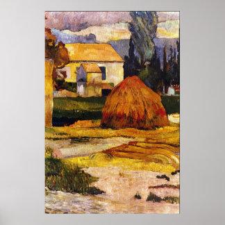 Paisaje, Arles de Eugène Enrique Paul Gauguin Póster