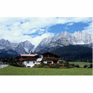 Paisaje austríaco fotoescultura vertical