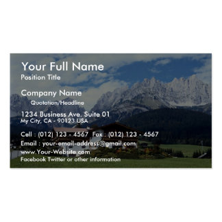 Paisaje austríaco tarjetas de visita