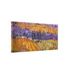 Paisaje Auvers de Van Gogh en la lluvia, tiempo Impresión En Lona Estirada