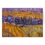 Paisaje Auvers de Van Gogh en la lluvia, tiempo Tarjeta