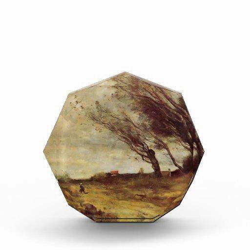 Paisaje azotado por el viento de Camilo Corot-