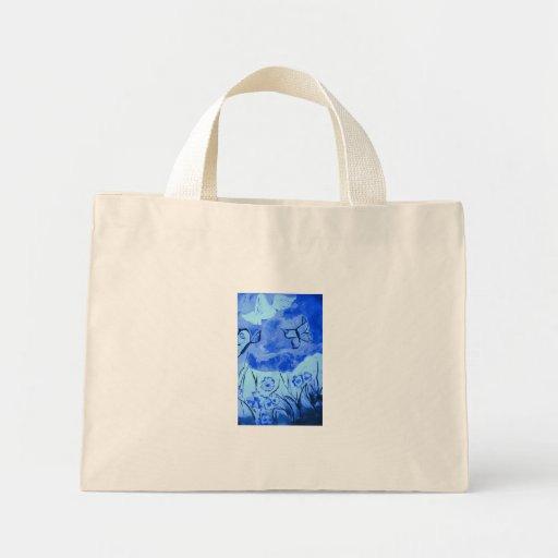 Paisaje azul con la paloma bolsa