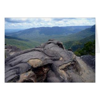 paisaje azul de las montañas tarjeta de felicitación