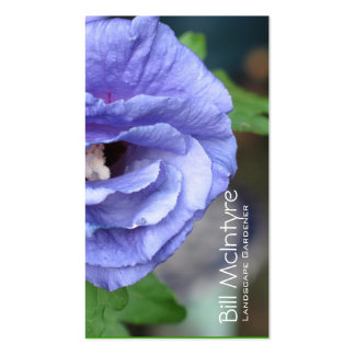 Paisaje azul del jardín del hibisco plantillas de tarjetas personales