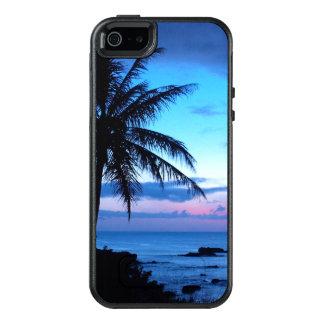 Paisaje azul rosado bonito de la puesta del sol de funda otterbox para iPhone 5/5s/SE
