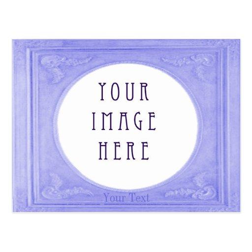 Paisaje azul sueco de la frontera del personalizar tarjeta postal