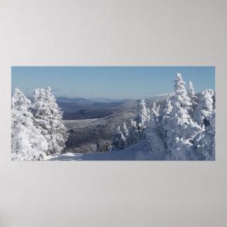 paisaje beaty de New Hampshire de la montaña del c Póster