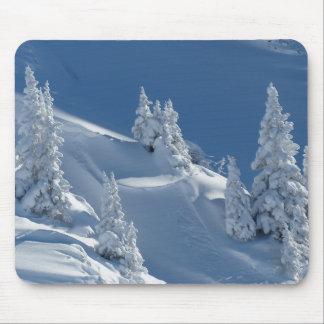 Paisaje blanco de la nieve tapete de ratones