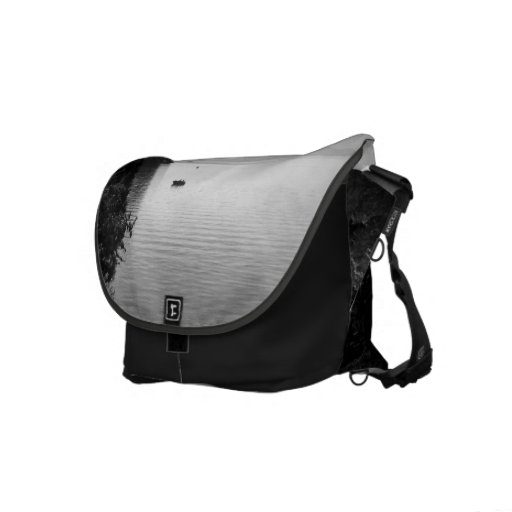 Paisaje blanco y negro 13 bolsas de mensajería