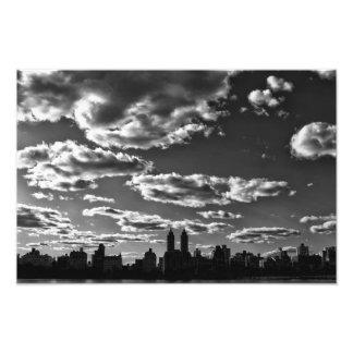 Paisaje blanco y negro de New York City Fotografía