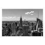 Paisaje blanco y negro del horizonte de Manhattan Fotografías