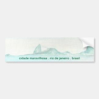 Paisaje brasileño pegatina para auto