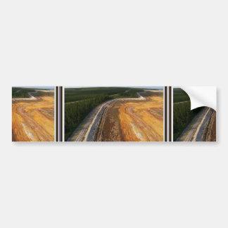 Paisaje canadiense de las áreas mineras cerradas pegatina para auto