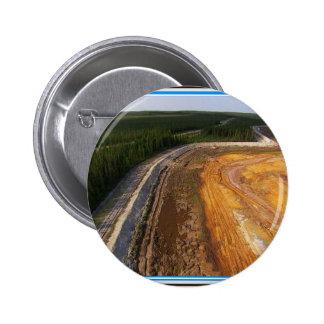 Paisaje canadiense de las áreas mineras cerradas pin redondo de 2 pulgadas