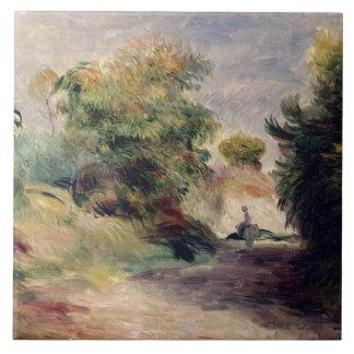 Paisaje cerca de Cagnes, 1907 (aceite en lona) Azulejo Cuadrado Grande