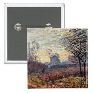 Paisaje cerca de Louveciennes, 1873 Pin Cuadrada 5 Cm