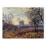 Paisaje cerca de Louveciennes, 1873 Postales