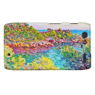 Paisaje cerca de Monte Carlo, Claude Monet 1883 Motorola Droid RAZR Fundas